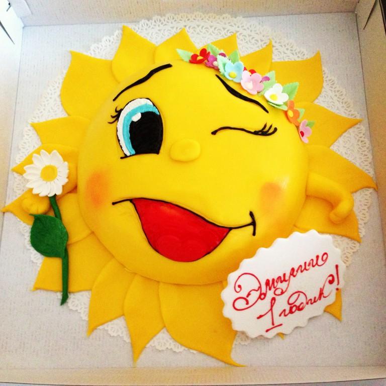 Торт в виде солнышка