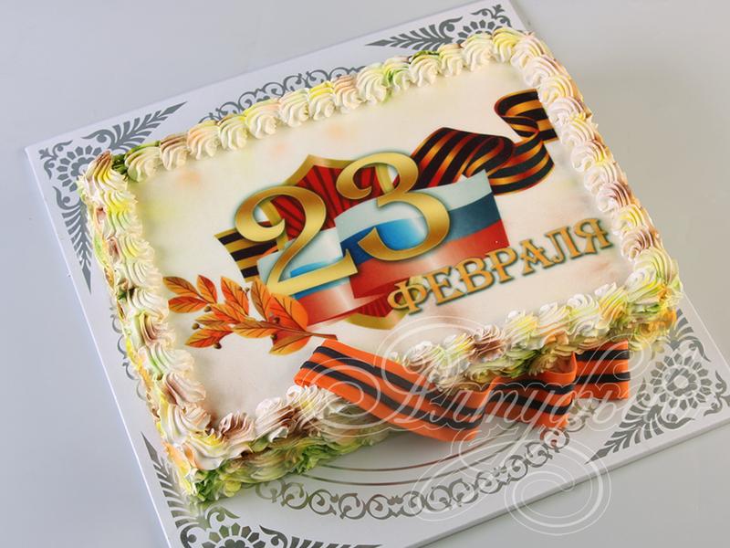 Торт в день защитника отечества