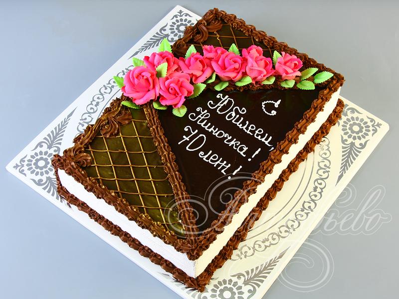 Торт в виде открытки на день рождения 52