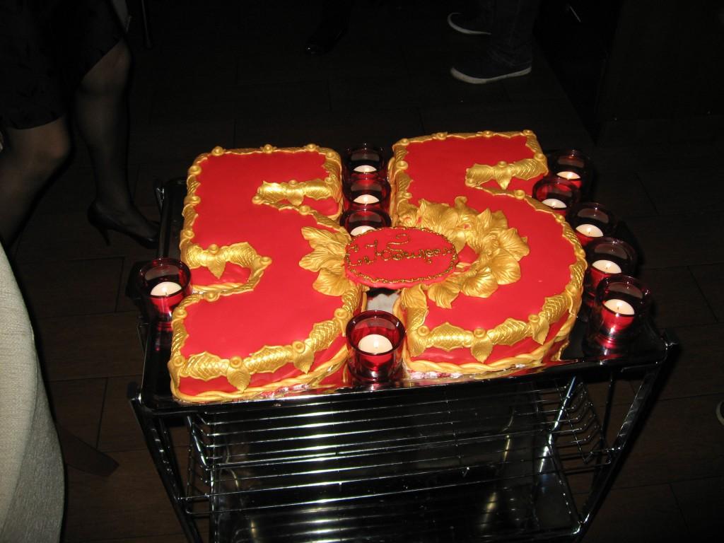 Фото торт цифра 55