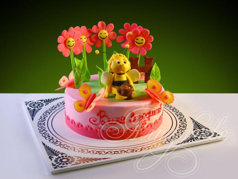 Фото детских тортов с бабочкой