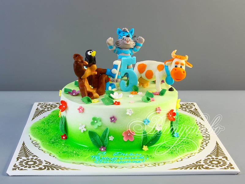 Кот матроскин торт