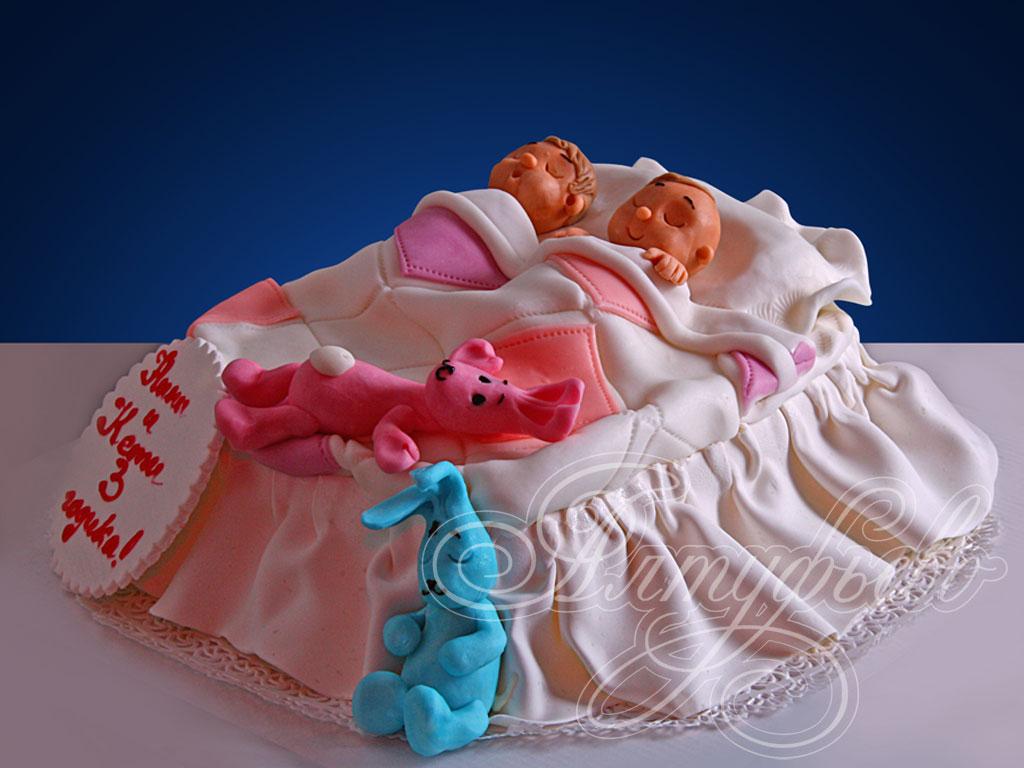 Торт «Колыбелька для близнецов»