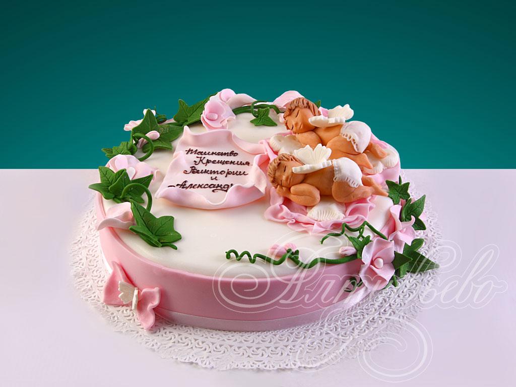 Торт «Крещение близнецов»