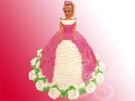 ну.. может тогда билет в кукольный театр или на атракционы.  Можно еще торт с ее фотографией или ввиде куклы...