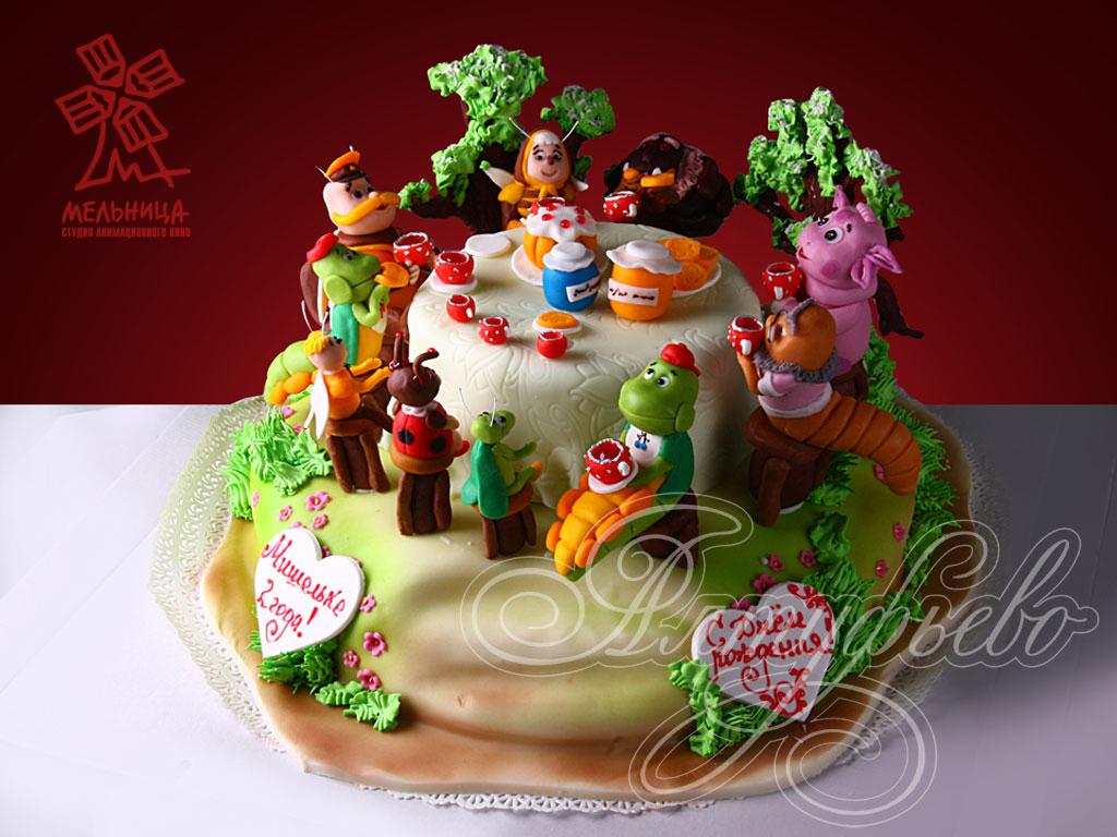 Торт «Веселая полянка»