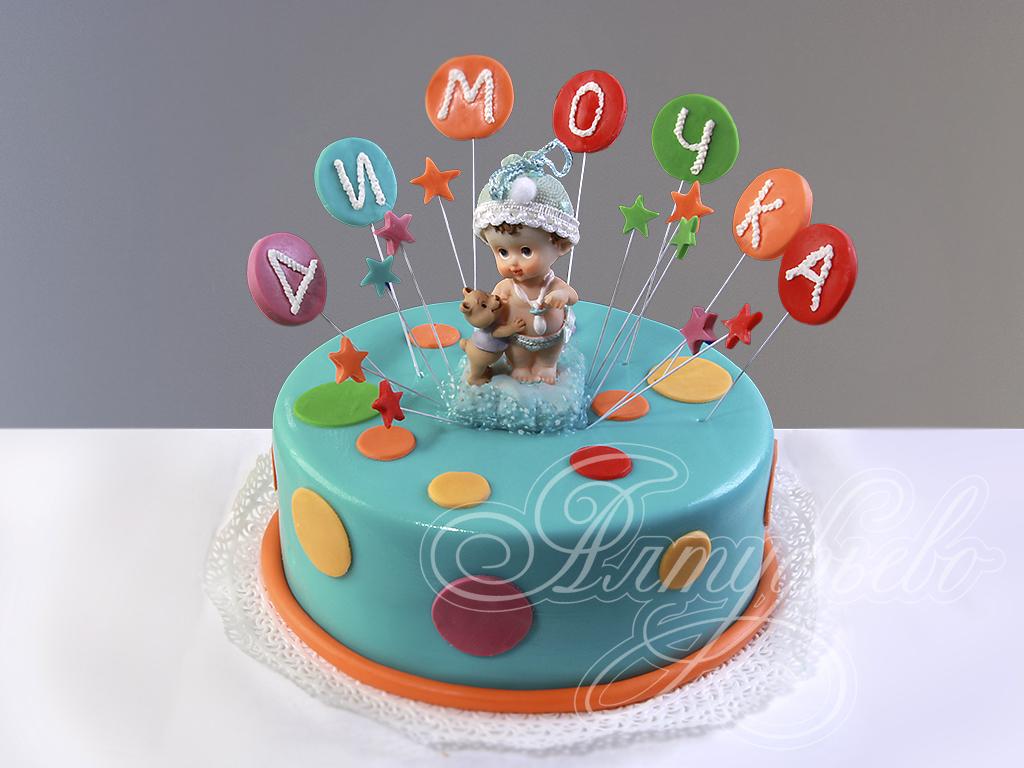 """Свадебные торты на заказ.  Детский торт  """"Для малыша на 1 год """" - Фото 3320."""