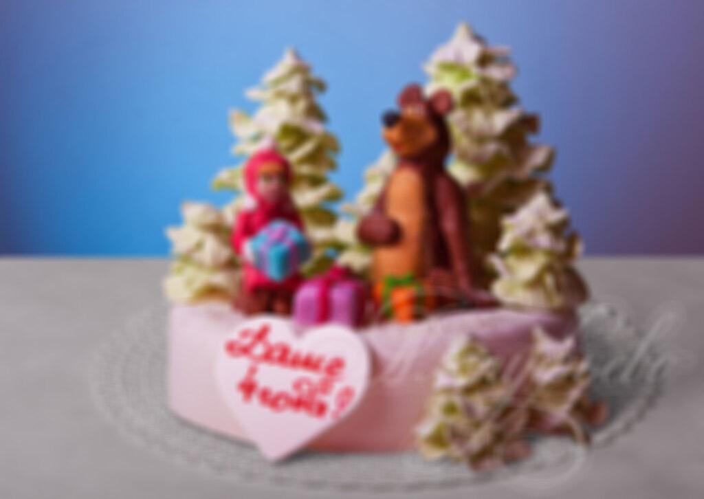 Мультик торт детский маша и медведь