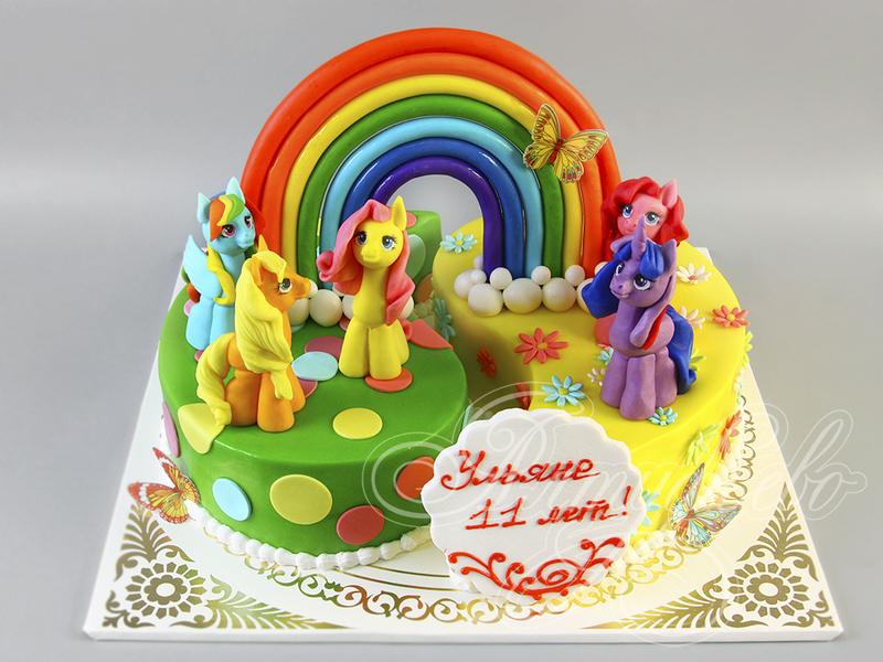 Торт на заказ с пони-фото