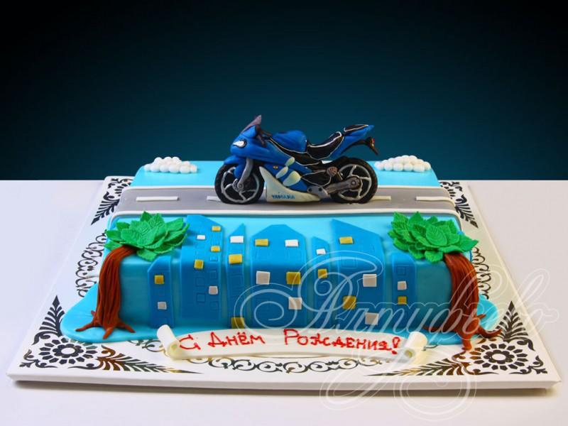синий мотоцикл фото