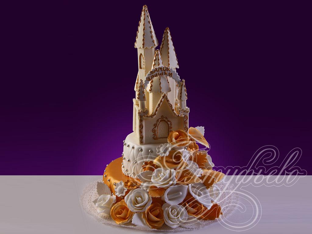 Торт «Цветочный замок»