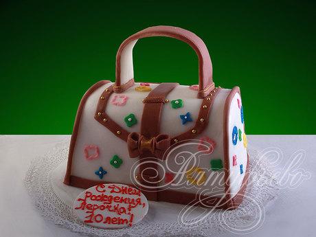 666f68cca316 Подарочный торт № 170 Добавить в избранные. Девушке «Сумочка от Луи Витона».  Подарочный № 170