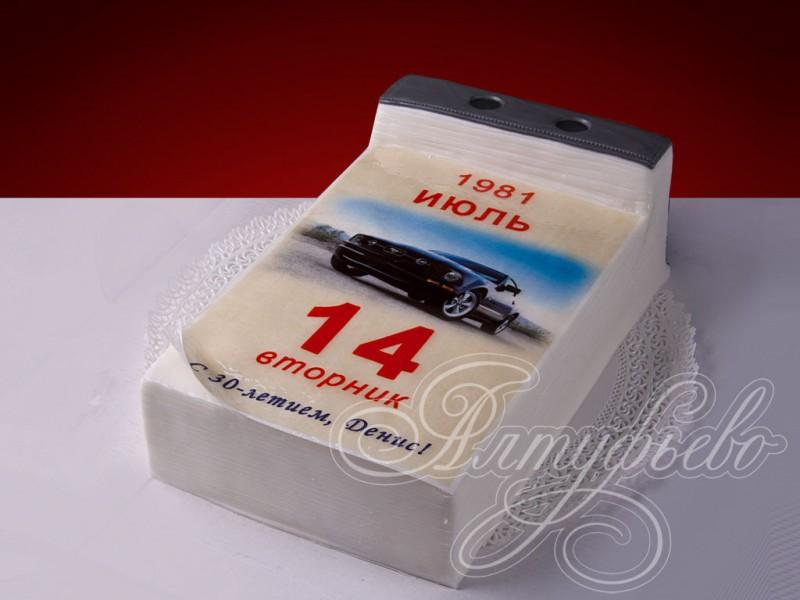 торт в виде календаря фото