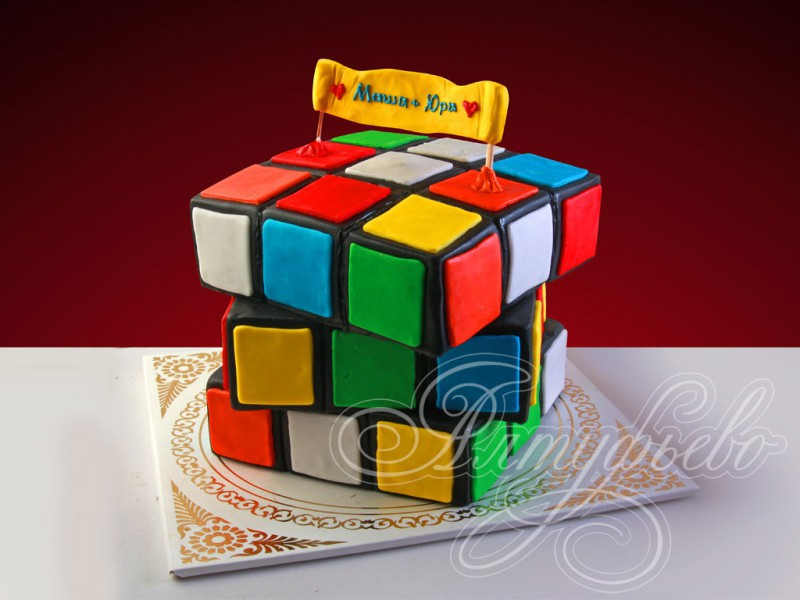 Торт Кубик Рубика, МК - У самовара - Украшение тортов 15