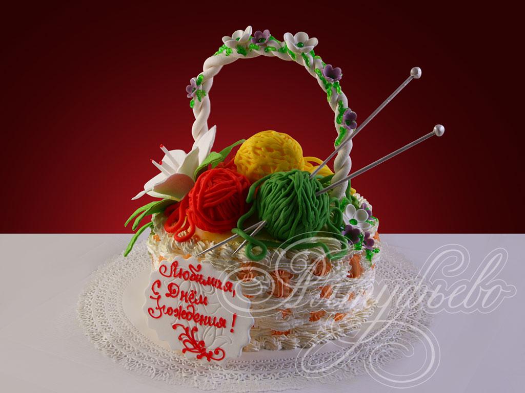 Торт «Любимой рукодельнице»