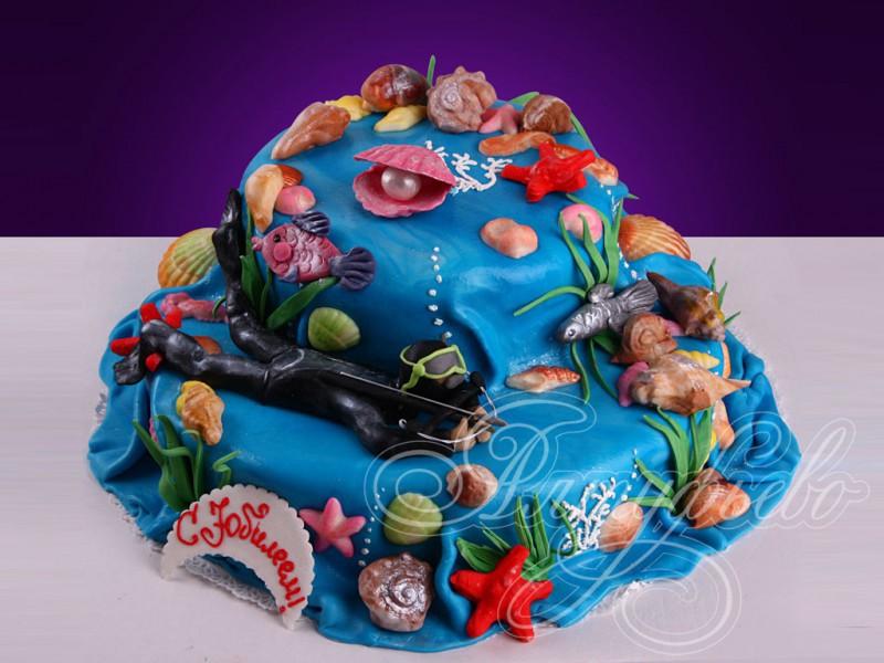 Фото тортов с подводным миром