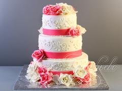 Свадебный торт «Кружевная нежность»
