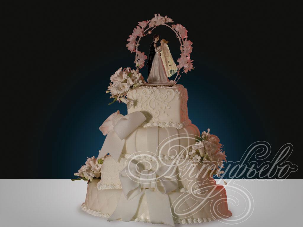 Свадебный торт «Подарок небес»