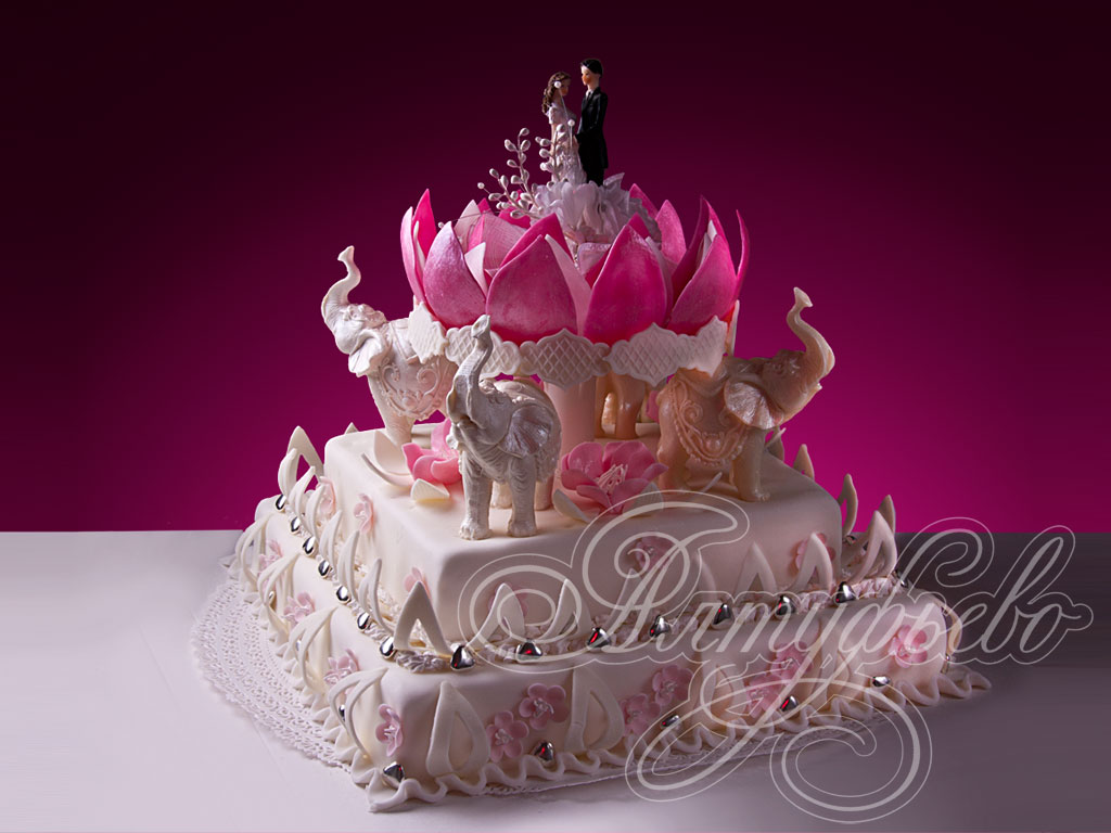 Торт «Прекрасный лотос»