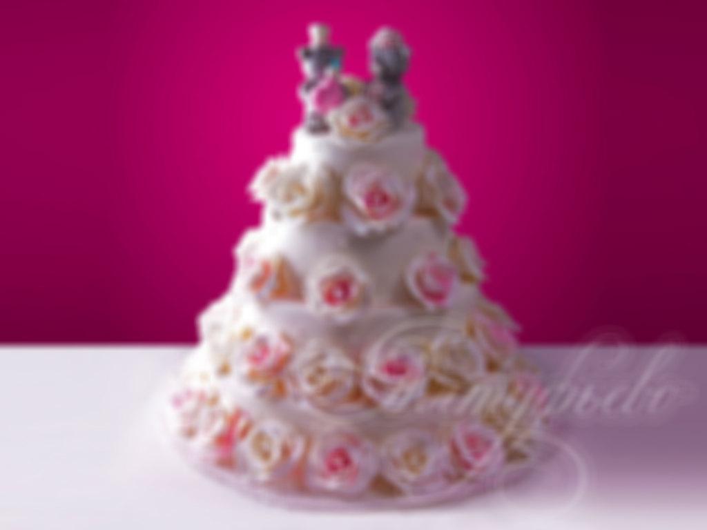 Заказать свадебный торт № 383