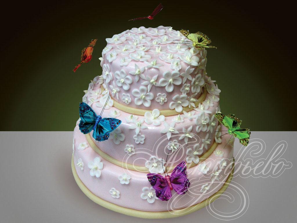 Заказать свадебный торт № 108